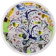 Childlike Innocence Round Beach Towel