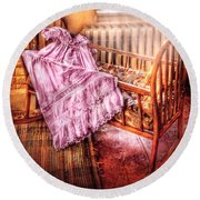 Children - It's A Girl Round Beach Towel by Mike Savad