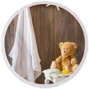Childrens Bathroom Round Beach Towel