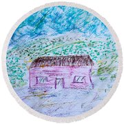 Child's Drawing Round Beach Towel