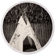 Childs Vintage Play Tipi Round Beach Towel