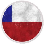 Chile Flag Round Beach Towel