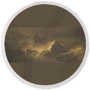 Chilkat Range Round Beach Towel