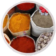 Chilli Powders 4 Round Beach Towel