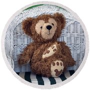 Chilling Bear Round Beach Towel