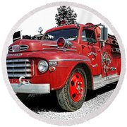 Chilliwack Fire- Mercury Firetruck Round Beach Towel