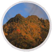 Chimney Tops In Smoky Mountains Round Beach Towel
