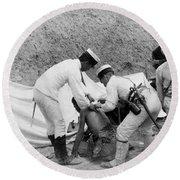 China: Boxer Rebellion, C1901 Round Beach Towel
