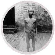 China Famine Victim Round Beach Towel