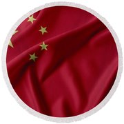 China Flag  Round Beach Towel