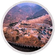 China Great Wall Adventure By Jrr Round Beach Towel