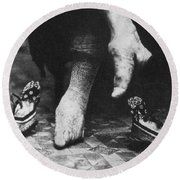 China: Lily Foot, C1900 Round Beach Towel