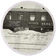 China Railroad, 1918 Round Beach Towel