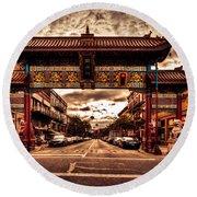 China Town Victoria Round Beach Towel