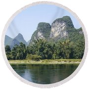China Yangshuo County Li River  Round Beach Towel