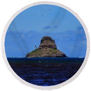 Chinaman's Hat Island-kane'ohe Bay Oahu Hawaii Round Beach Towel