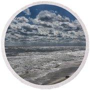 Chincoteague Beach Round Beach Towel