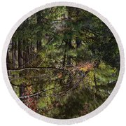 Chincoteague Reflection Round Beach Towel