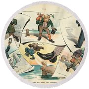 Chinese Exclusion Act, 1905 Round Beach Towel