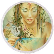 Chinese Fairytale Round Beach Towel