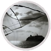 Approaching Cochin Round Beach Towel