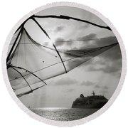 Chinese Fishing Net Round Beach Towel