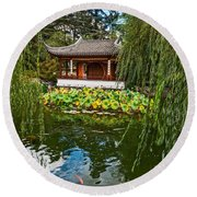 Chinese Garden Dream Round Beach Towel