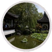 Chinese Gardens The Huntington Library Round Beach Towel