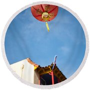 Chinese Lantern Round Beach Towel