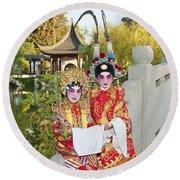 Chinese Opera Children - Traditional Chinese Opera Costumes. Round Beach Towel
