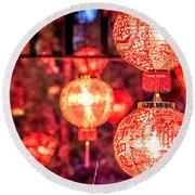 Chinese Red Lantern Round Beach Towel