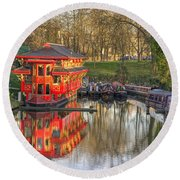 Chinese Reflections  Round Beach Towel