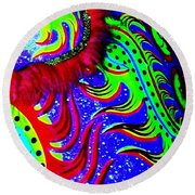 Chinese Tapestry Abstract Round Beach Towel