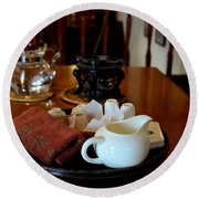 Chinese Tea Pot Cups Towel Tray And Plates Round Beach Towel