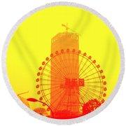 Chinese Wonder Wheel Round Beach Towel
