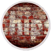 Chips Brick Wall Round Beach Towel