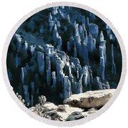 Chiricahua Pinnacles D Round Beach Towel