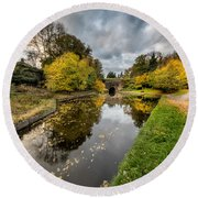 Chirk Canal Round Beach Towel