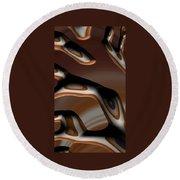 Chocolate Bark Round Beach Towel
