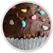 Chocolate Cupcake Round Beach Towel