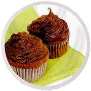 Chocolate Cupcakes Round Beach Towel