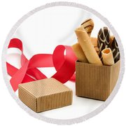 Chocolate Gift Round Beach Towel