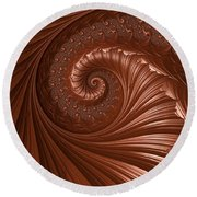 Chocolate  Round Beach Towel