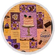 Chocolate Holiday Round Beach Towel