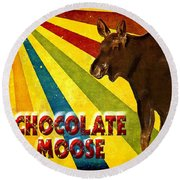 Chocolate Moose Round Beach Towel