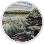 Chokoloskee Snook Round Beach Towel