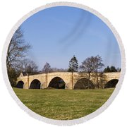 Chollerford Bridge Round Beach Towel