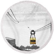 Chongqing Cable Car Round Beach Towel