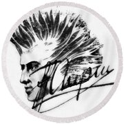 Chopin 2 Round Beach Towel