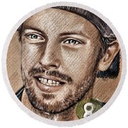 Chris Martin Round Beach Towel